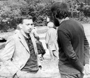 Владимир Лацберг и Юрий Устинов. 1977 г.