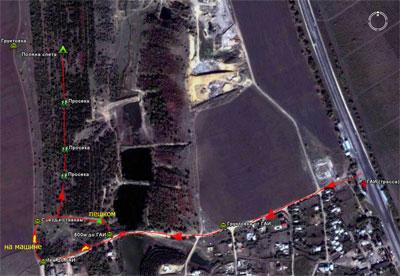 Подробно о месте расположения слета и маршруте от ГАИ 21км (спутниковый снимок)